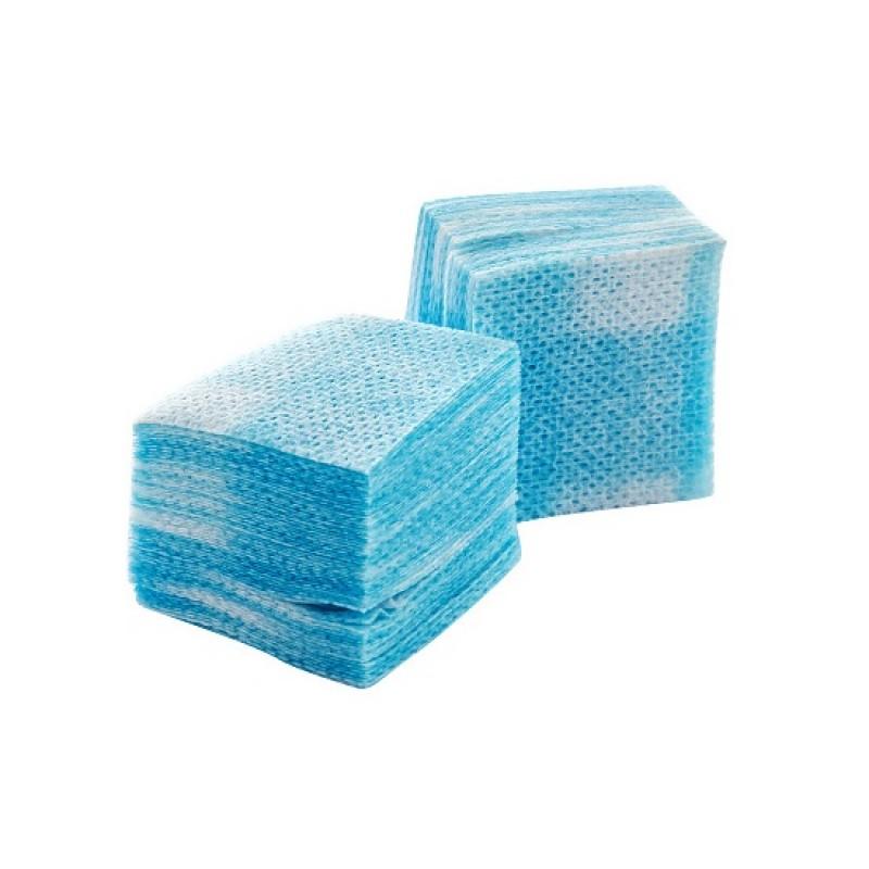 IRISK PROFESSIONAL Салфетки безворсовые 4 х 4 см, 03 голубые 750 шт