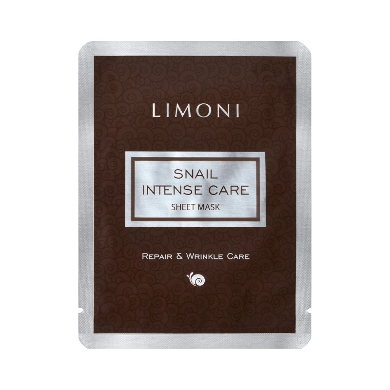 LIMONI Маска интенсивная для лица с экстрактом секреции улитки / Snail Intense Care Sheet Mask 18 г