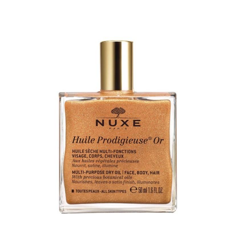 NUXE Масло сухое мерцающее для лица, тела и волос / HUILE PRODIGIEUSE OR 50 мл