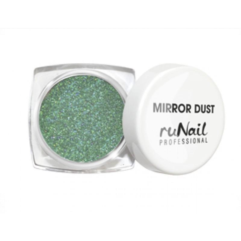 RUNAIL Пыль зеркальная для втирки с аппликатором, зеленый 1 г