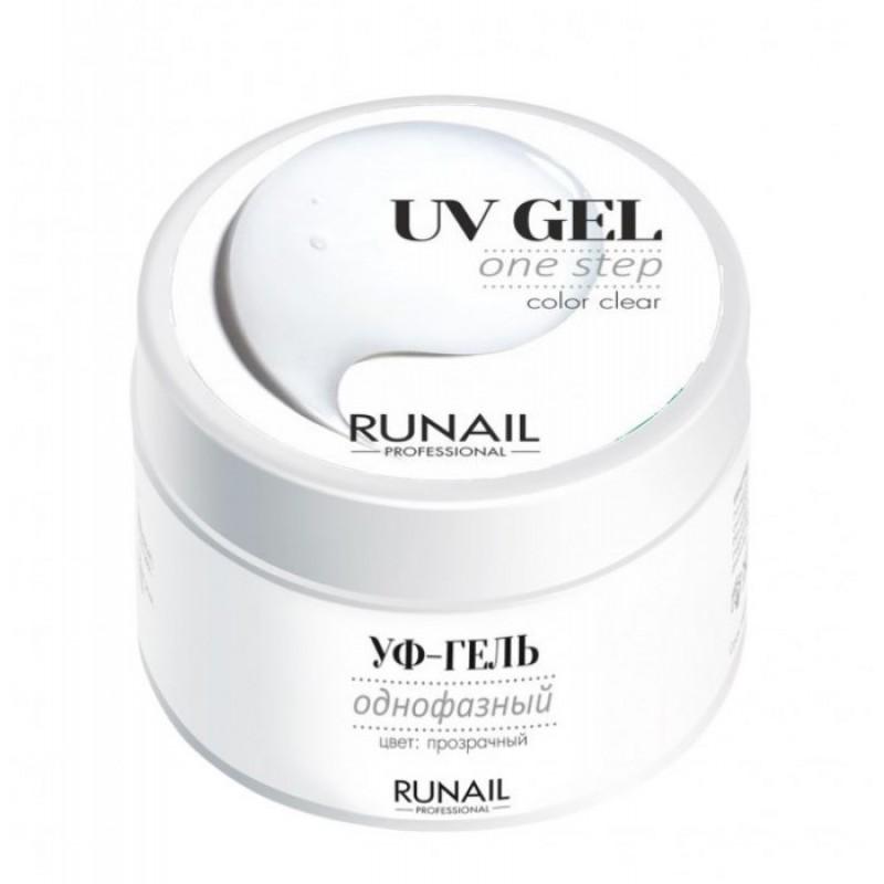 RUNAIL УФ-гель однофазный, прозрачный 15 г